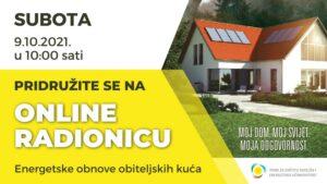 Javni poziv za dodjelu bespovratnih sredstava za energetsku obnovu obiteljskih kuća i zgrada